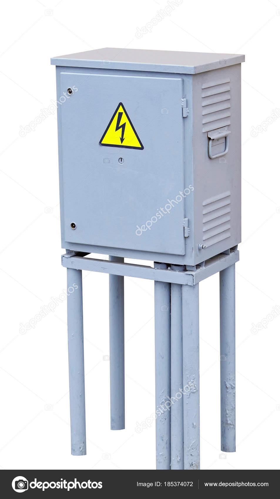 Buiten Kasten Voor Elektrische Apparatuur Stockfoto