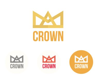 Crown vector logo. Modern colorful reign and power concept