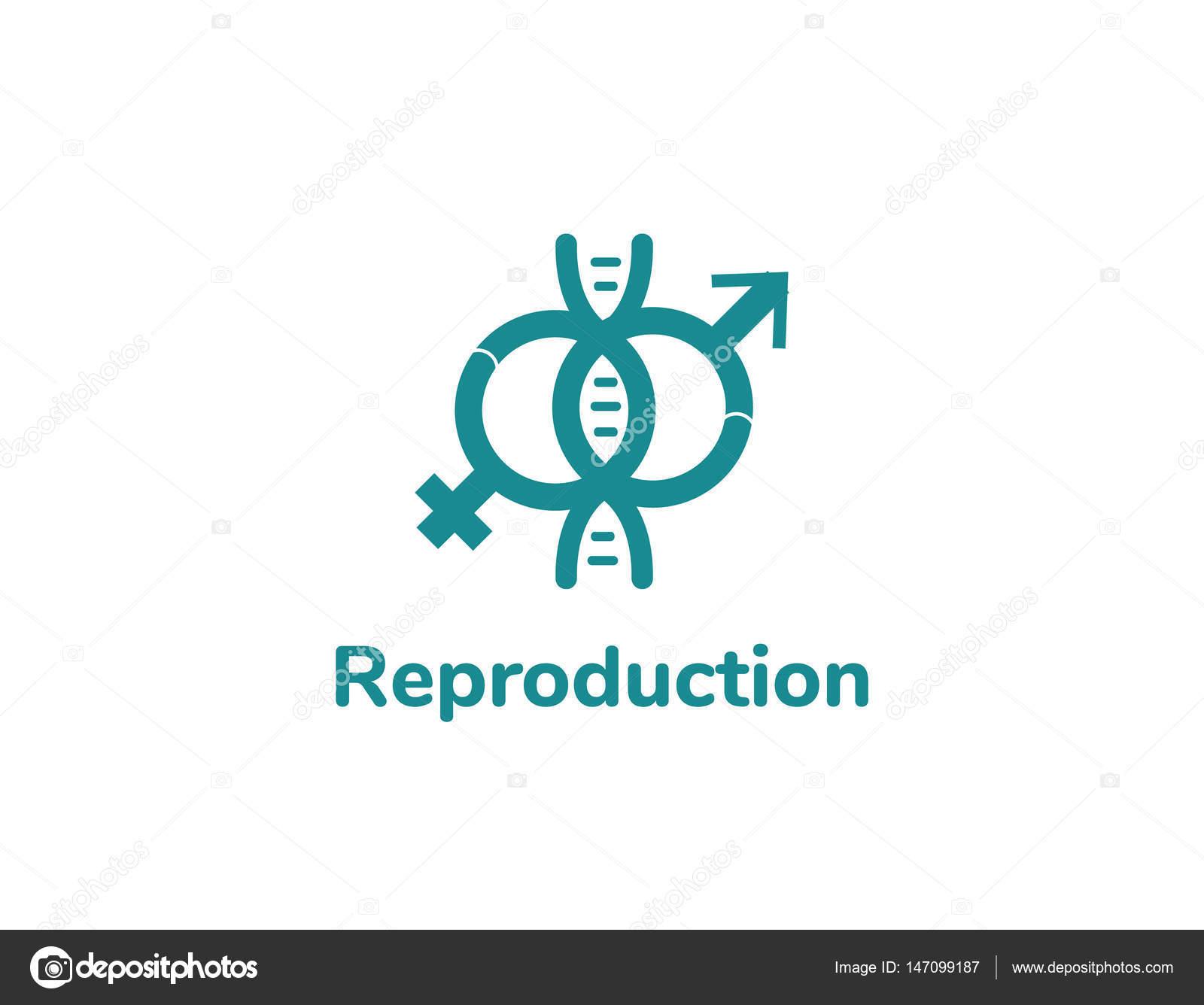 Reproductuion-Logo-Design. Reproduktion-Medizin-Vektor — Stockvektor ...