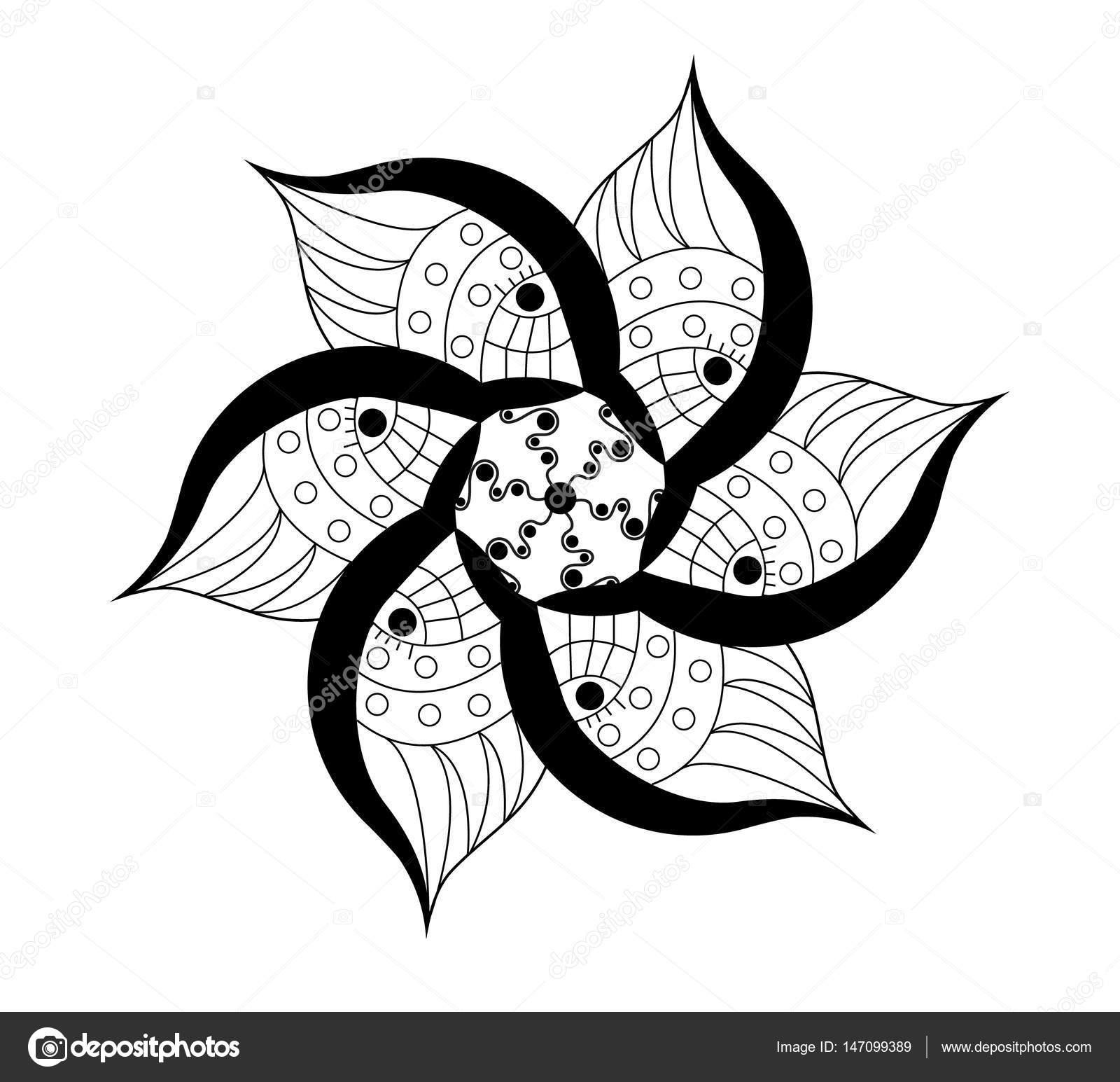 Imágenes Flores Para Tatuar Flores Ornamentales Vector Para