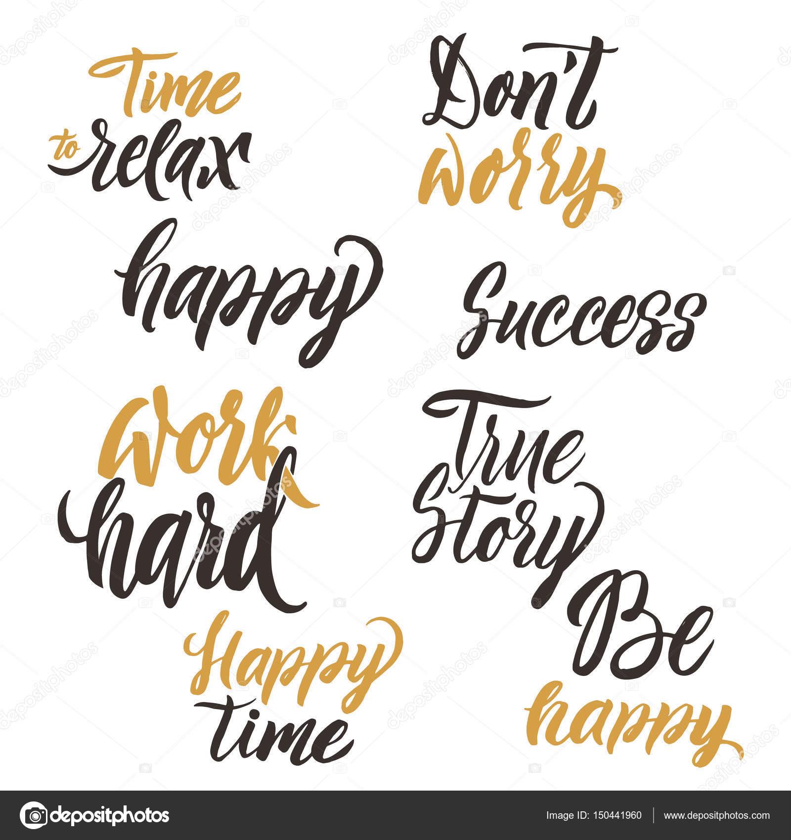 Conceitual Manuscrito Conjunto De Frases Ou Palavras Cartaz