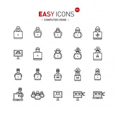 Easy icons 44a Computer crime