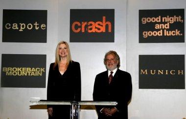Mira Sorvino and Sid Ganis
