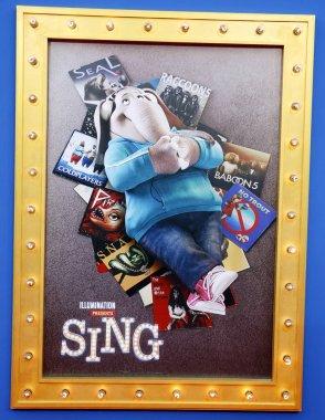 Sing movie poster art