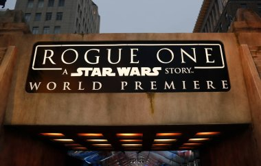 World premiere of 'Rogue One: A Star Wars Story'