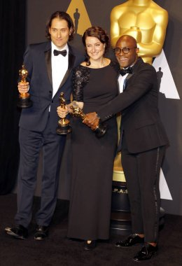 Jeremy Kleiner, Adele Romanski and Barry Jenkins