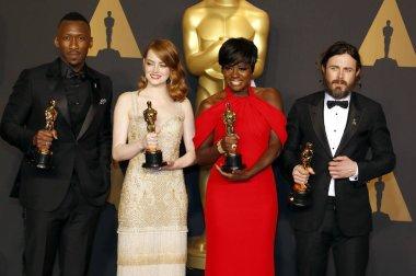 Viola Davis, Casey Affleck, Mahershala Ali and Emma Stone