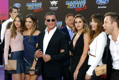 Sylvester Stallone and family