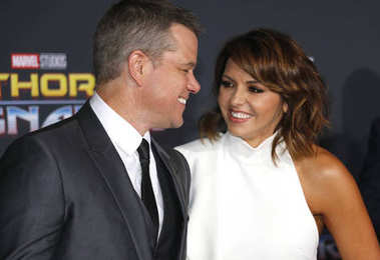 actor Matt Damon and Luciana Barroso