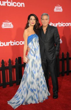 actor George Clooney and Amal Clooney