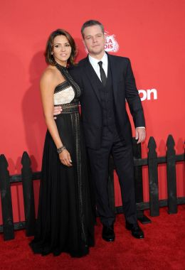actor Matt Damon and Luciana Barroso