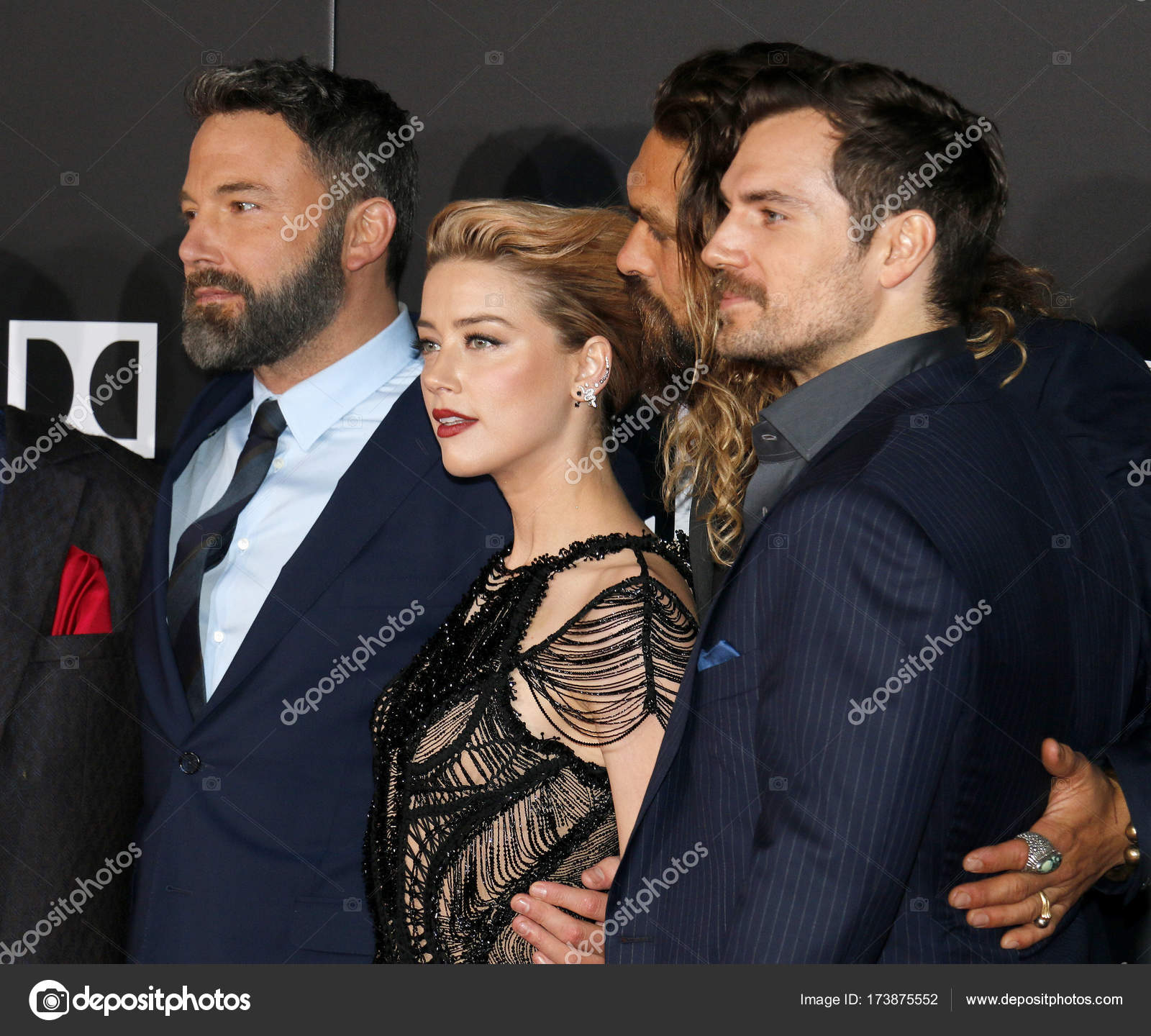 Actors Ben Affleck, Amber Heard, Henry Cavill And Jason