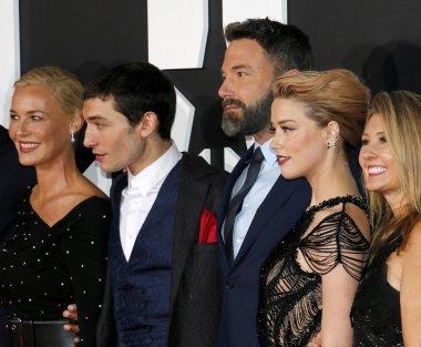 Actors Connie Nielsen, Ezra Miller, Ben Affleck and Amber Heard