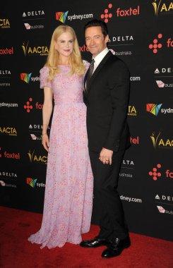 actors Hugh Jackman and Nicole Kidman at 7th AACTA International Awards held at the Avalon in Hollywood, USA on January 5, 2018.