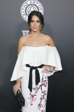 actress Nikki Reed at the Art Of Elysium's 11th Annual Heaven Celebration held at the Barker Hangar in Santa Monica, USA on January 6, 2018.