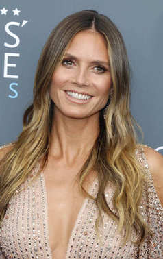 model Heidi Klum at the 23rd Annual Critics' Choice Awards held at the Barker Hangar in Santa Monica, USA on January 11, 2018.