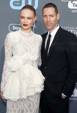 Kate Bosworth and Michael Polish at the 23rd Annual Critics' Choice Awards held at the Barker Hangar in Santa Monica, USA on January 11, 2018.