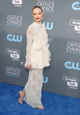 actress Kate Bosworth at the 23rd Annual Critics' Choice Awards held at the Barker Hangar in Santa Monica, USA on January 11, 2018.
