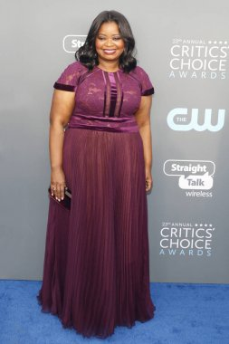 actress Octavia Spencer at the 23rd Annual Critics' Choice Awards held at the Barker Hangar in Santa Monica, USA on January 11, 2018.