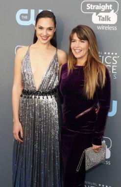 Gal Gadot and Patty Jenkins at the 23rd Annual Critics' Choice Awards held at the Barker Hangar in Santa Monica, USA on January 11, 2018.
