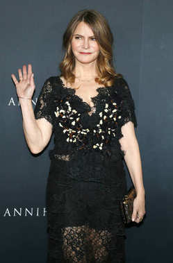 actress Jennifer Jason Leigh at the Los Angeles premiere of 'Annihilation' held at the Regency Village Theater in Westwood, USA on February 13, 2018.