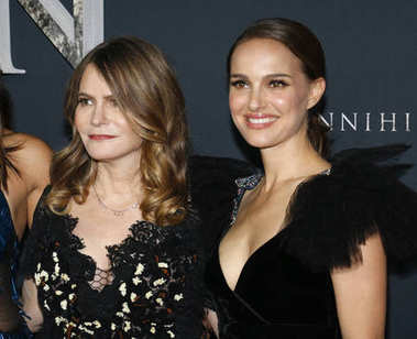 actresses Natalie Portman and Jennifer Jason Leigh at the Los Angeles premiere of 'Annihilation' held at the Regency Village Theater in Westwood, USA on February 13, 2018.