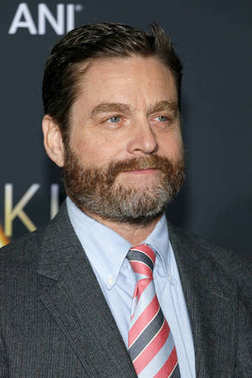 Zach Galifianakis at the Los Angeles premiere of 'A Wrinkle In Time' held at the El Capitan Theater in Hollywood, USA on February 26, 2018.
