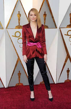 Emma Stone at the 90th Annual Academy Awards held at the Dolby Theatre in Hollywood, USA on March 4, 2018.