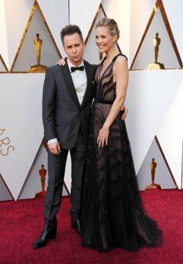 Leslie Bibb and Sam Rockwell at the 90th Annual Academy Awards held at the Dolby Theatre in Hollywood, USA on March 4, 2018.