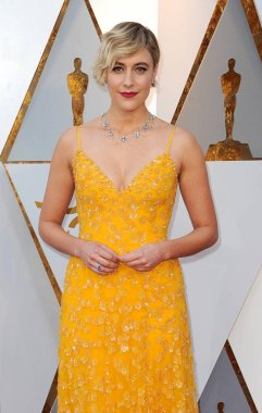 Greta Gerwig at the 90th Annual Academy Awards held at the Dolby Theatre in Hollywood, USA on March 4, 2018.