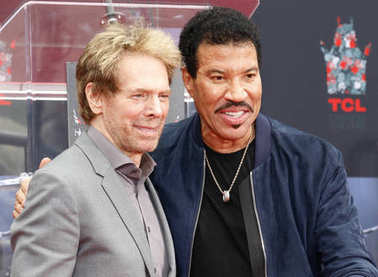 Jerry Bruckheimer and Lionel Richie at Lionel Richie Hand And Footprint Ceremony held at the TCL Chinese Theatre in Hollywood, USA on March 7, 2018.
