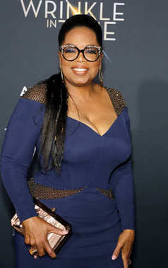 media proprietor Oprah Winfrey at the Los Angeles premiere of 'A Wrinkle In Time' held at the El Capitan Theater in Hollywood, USA on February 26, 2018.