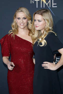 actresses Reese Witherspoon and Ava Phillippe at the Los Angeles premiere of 'A Wrinkle In Time' held at the El Capitan Theater in Hollywood, USA on February 26, 2018.