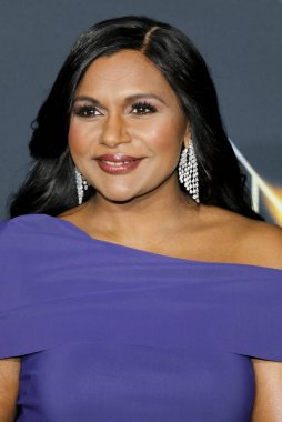 actress Mindy Kaling at the Los Angeles premiere of 'A Wrinkle In Time' held at the El Capitan Theater in Hollywood, USA on February 26, 2018.