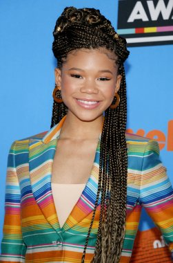 actress Storm Reid at the Nickelodeon's 2018 Kids' Choice Awards held at the Forum in Inglewood, USA on March 24, 2018.