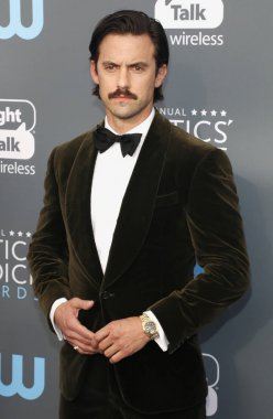 actor Milo Ventimiglia at the 23rd Annual Critics' Choice Awards held at the Barker Hangar in Santa Monica, USA on January 11, 2018.