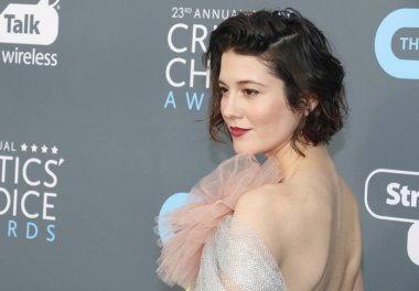 actress Mary Elizabeth Winstead at the 23rd Annual Critics' Choice Awards held at the Barker Hangar in Santa Monica, USA on January 11, 2018.