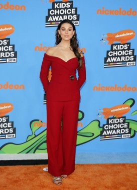actress Kira Kosarin at the Nickelodeon's 2018 Kids' Choice Awards held at the Forum in Inglewood, USA on March 24, 2018.