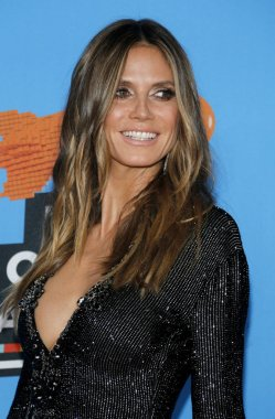 model Heidi Klum at the Nickelodeon's 2018 Kids' Choice Awards held at the Forum in Inglewood, USA on March 24, 2018.