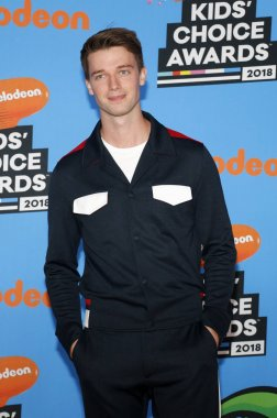 actor Patrick Schwarzenegger at the Nickelodeon's 2018 Kids' Choice Awards held at the Forum in Inglewood, USA on March 24, 2018.