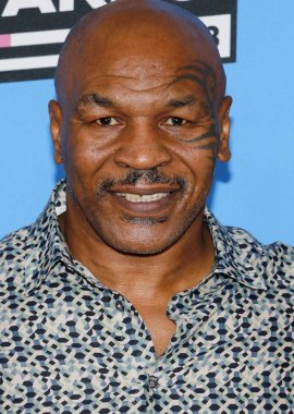 boxer Mike Tyson at the Nickelodeon's 2018 Kids' Choice Awards held at the Forum in Inglewood, USA on March 24, 2018.