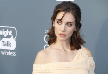 actress Alison Brie at the 23rd Annual Critics' Choice Awards held at the Barker Hangar in Santa Monica, USA on January 11, 2018.