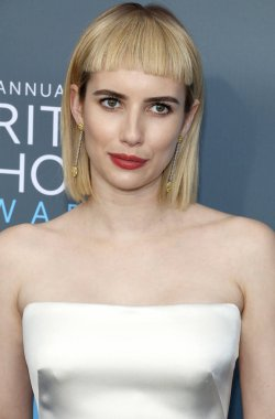actress Emma Roberts at the 23rd Annual Critics' Choice Awards held at the Barker Hangar in Santa Monica, USA on January 11, 2018.