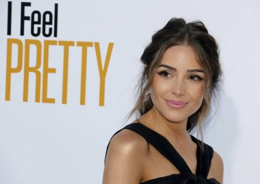 model Olivia Culpo at the Los Angeles premiere of 'I Feel Pretty' held at the Regency Village Theatre in Westwood, USA on April 17, 2018.