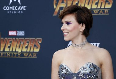 actress Scarlett Johansson at the premiere of Disney and Marvel's 'Avengers: Infinity War' held at the El Capitan Theatre in Hollywood, USA on April 23, 2018.