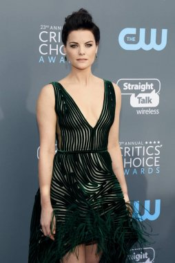 actress Jaimie Alexander at the 23rd Annual Critics' Choice Awards held at the Barker Hangar in Santa Monica, USA on January 11, 2018.