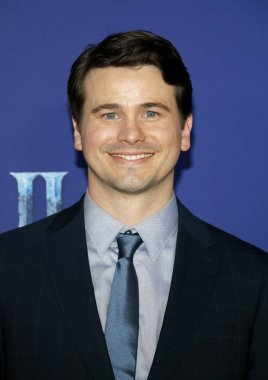 actor Jason Ritter at the World premiere of Disney's 'Frozen 2' held at the Dolby Theatre in Hollywood, USA on November 7, 2019.