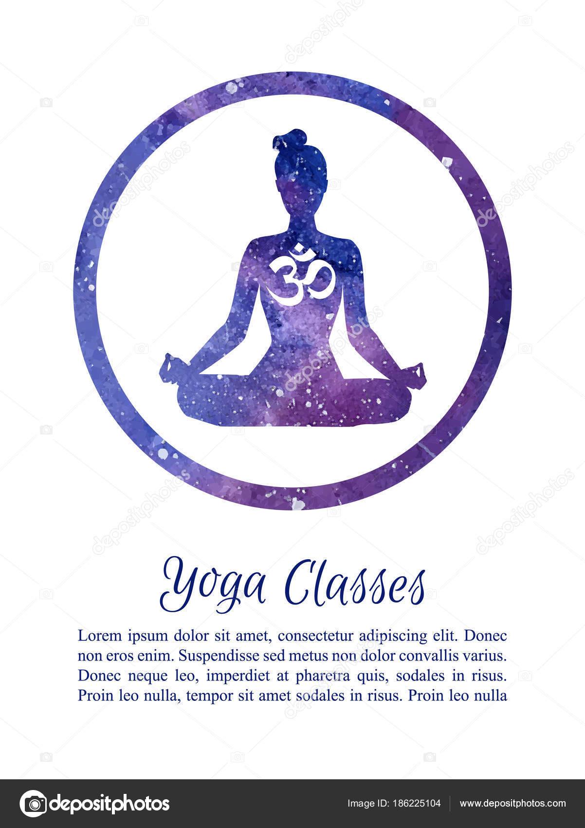 Plantilla Tarjeta Cartel Para Clases Yoga Con Lugar Para Texto ...