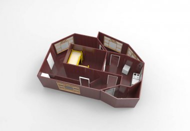 Flat 3d concept
