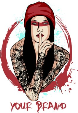 Lady Tattooed  illustration